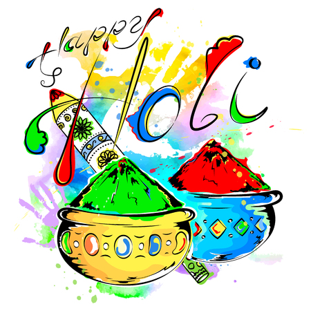 Happy Holi, a spring festival of colors