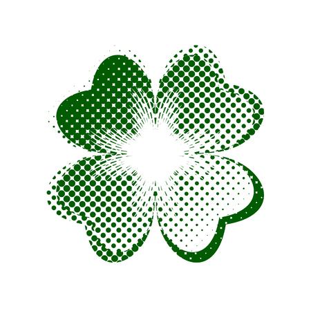 seamless clover: Happy St. Patricks day Stock Photo