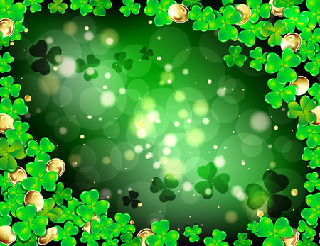 Happy St. Patricks day frame with Shamrock