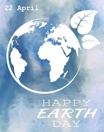 globe logo: World earth day grunge style, vector illustration