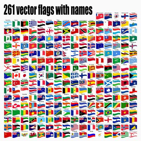 vlaggen van de wereld, ronde iconen, Litouwen, Luxemburg, Malta, Nederland, Polen, Portugal, Roemenië, Slowakije, Slovenië, Finland, Frankrijk, Tsjechië, Verenigd Koninkrijk, vector illustratie Stock Illustratie