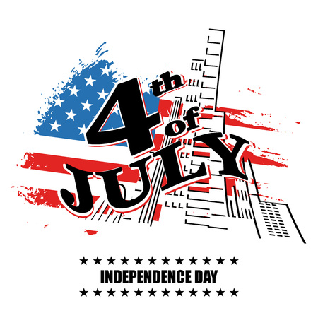 old new york: Greeting card for independence Day United States 4th of July. vector illustration Illustration