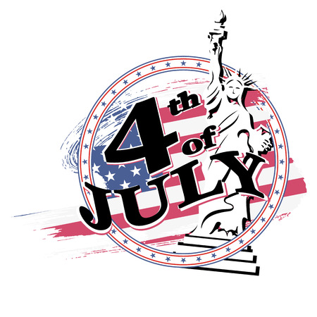 Greeting card for independence Day United States 4th of July. vector illustration Illustration