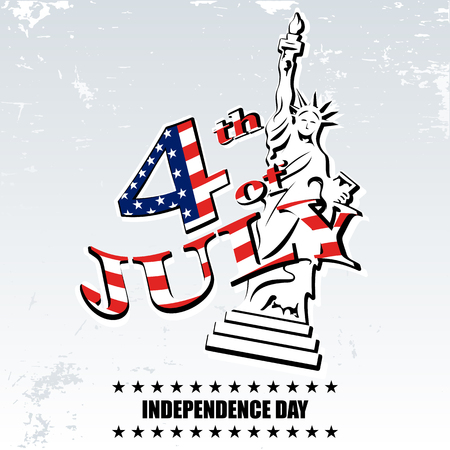 old new york: Greeting card for independence Day United States 4th of July