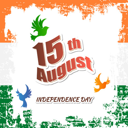 Indian Independence day festive with text, vector illustration