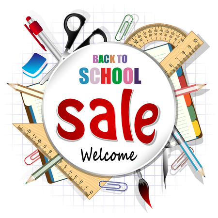 Back to school, discount banner
