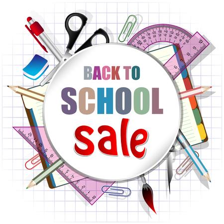 Back to school, discount banner