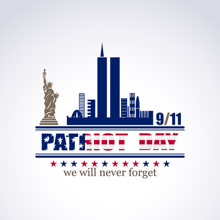 Patriot day we will never forget September 11, 2001, 911, greeting card