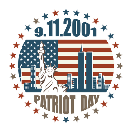 Patriot day of September 11, 2001, 911, greeting card