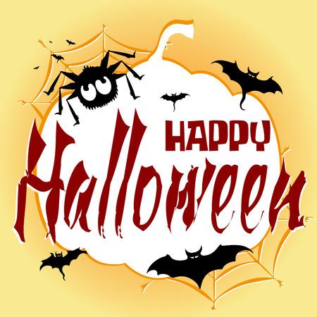 Gelukkige Halloween gestileerde letters