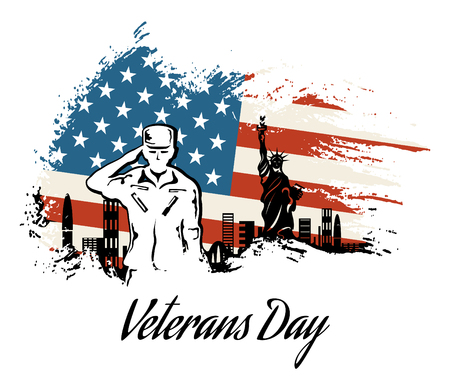 Veterans day, honoring all who served. abstract background. poster
