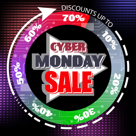 Cyber Monday sale abstract poster