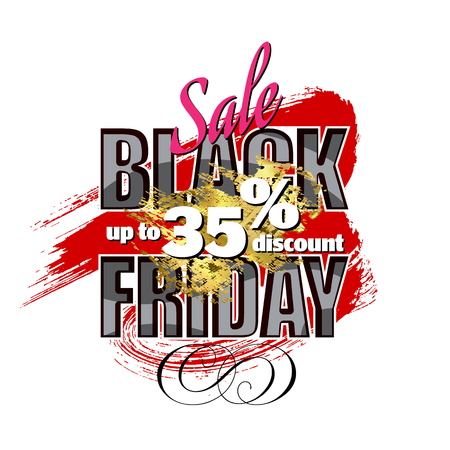 Black Friday sale. the banner template design. discounts of up to 35%
