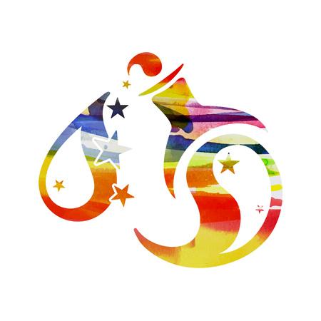 zodiac sign Aquarius vector illustration. Illustration