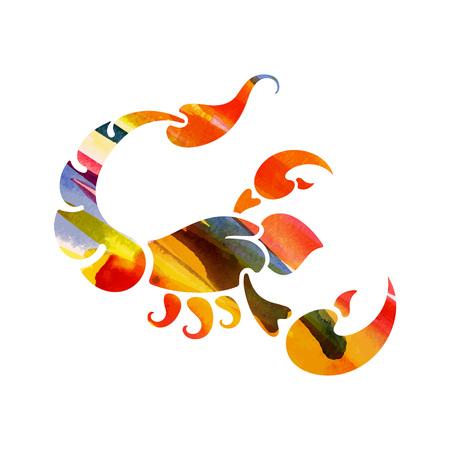 zodiac sign Scorpio vector illustration.