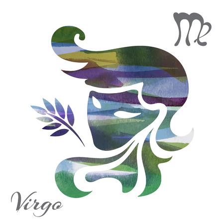 zodiac sign Virgo. vector illustration
