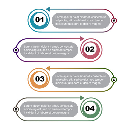Info-graphic template. Elements of web design. Vector illustration.