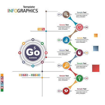 Info-graphics business template elements. Vector illustration. Illustration