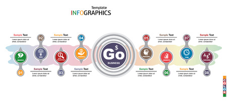 infographics business template elements. vector illustration