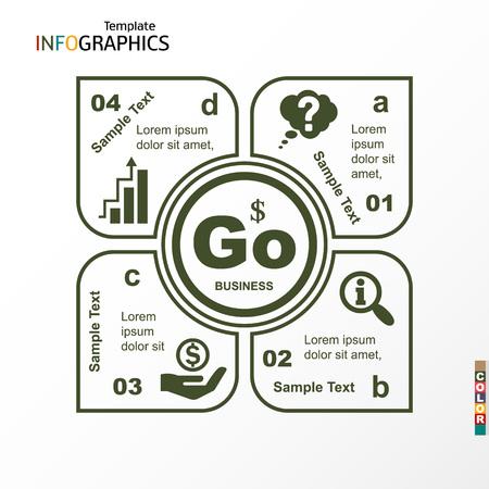 Infographic, geometric graph, business concept. vector illustration