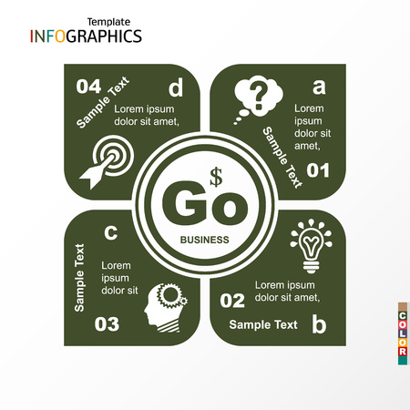 Infographic, geometric graph, business concept. vector illustration