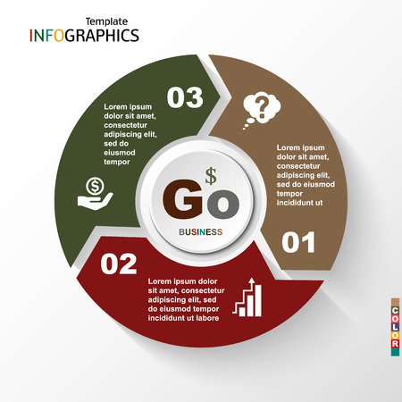 Infographic geometric graph business concept. vector illustration  イラスト・ベクター素材