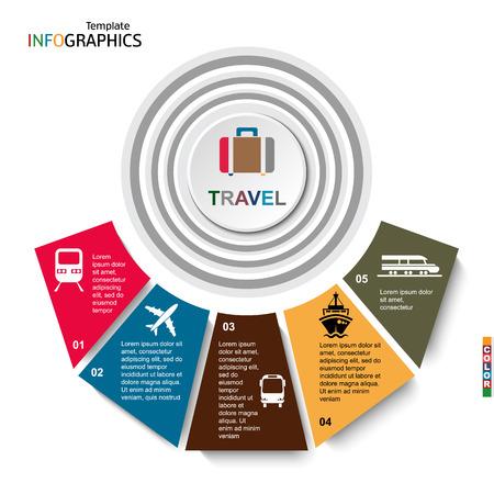 travel, infographics, transportation, vector illustration  イラスト・ベクター素材