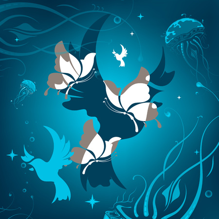 Background with animals abstraction. vector illustration Illustration