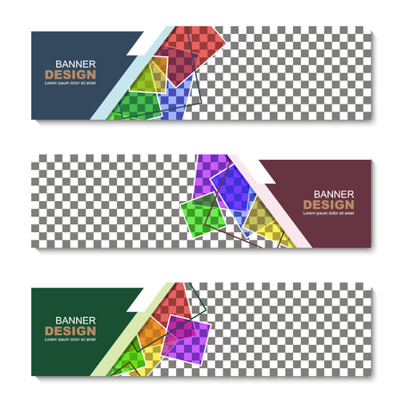 Banner, abstract web template. vector illustration