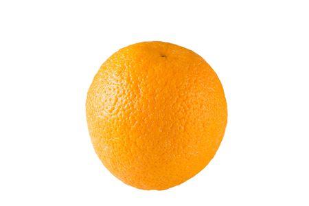 freshest: One piece orange on white isolated background