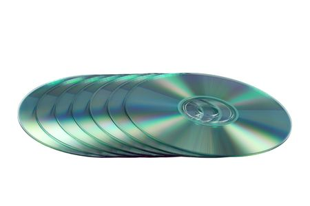 gigabytes: Compact discs isolated on the white background