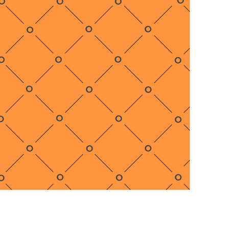 Orange background created with lines and dots black and orange Stock Illustratie