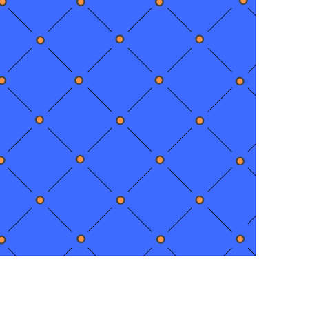 Blue background created with lines and dots black and orange