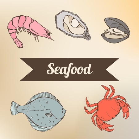 flounder: seafood in color