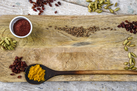 barberries: Spices on the Board in the Indian style