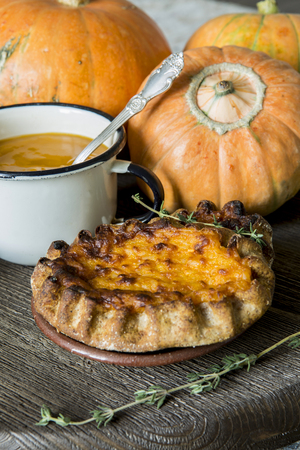 thyme: Mashed pumpkin, pie, thyme