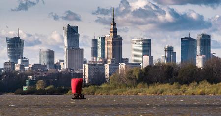 Panorama of Warsaw from the Siekierkowski bridge.