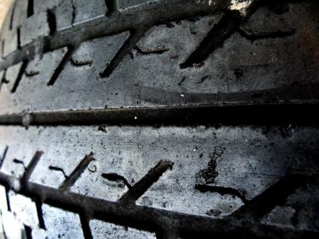 darn: Threadbare old wheel