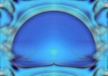 azure: Abstract symmetric blue & azure fractal rendered background Stock Photo