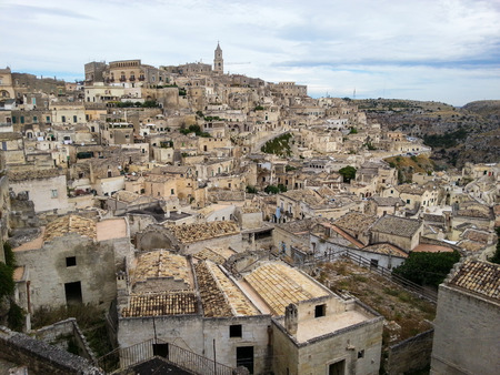 View of the ancient city of Matera, Basilicata, Italy