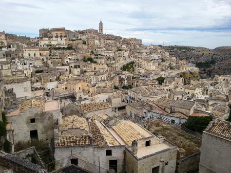 View of the ancient city of Matera, Basilicata, Italy