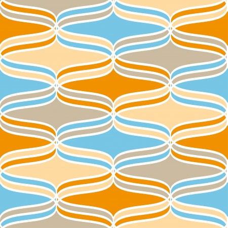 Geometric wavy lines colorful seamless pattern Vector