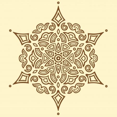 Round-symmetry brown pattern