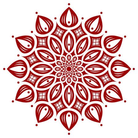 symmetry: dark red round symmetry pattern, mandala, fancyrosette