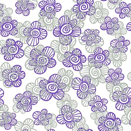 Doodle fancy flowers