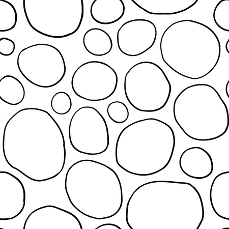 Simple organic rounds. Stylish structure of natural cells. Hand drawn abstract background.