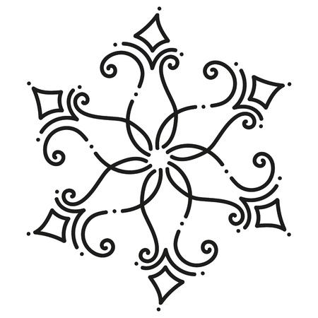 black and white round symmetrical hexagonal tile