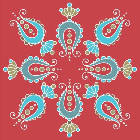 simple hand drawn mandala. fancy paisley elements Illustration