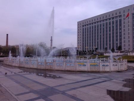 hebei: Zhangjiakou City, Hebei province City Hall building fountain
