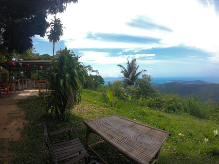 Lad Koh Viewpoint. Look out ocean side. Koh Samui Island, Thailand 版權商用圖片